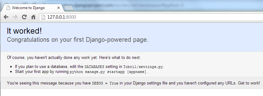 Yay Django. Yay Cloud.